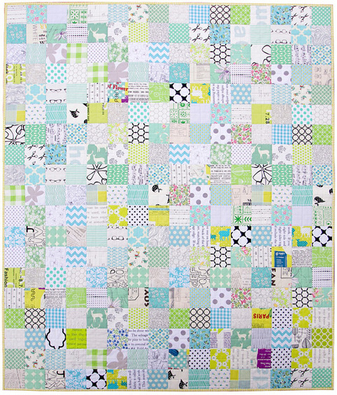 A Minty Green Patchwork Quilt - Red Pepper Quilts