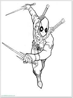 Ausmalbilder Deadpool zum Ausdrucken