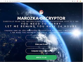 Marozka Ransomware site сайт