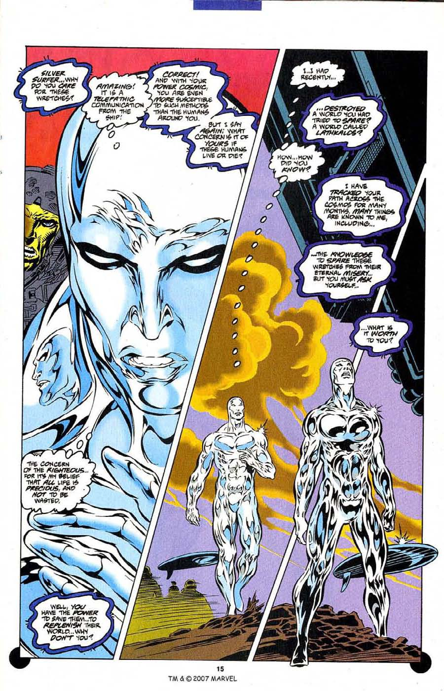 Read online Silver Surfer (1987) comic -  Issue #106 - 17