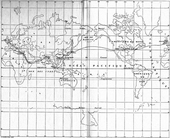80 nap alatt a Föld körül térkép