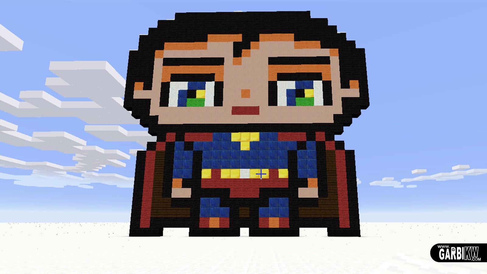 Minecraft Pixel Art How To Make A Cute Superman By Garbi Kw