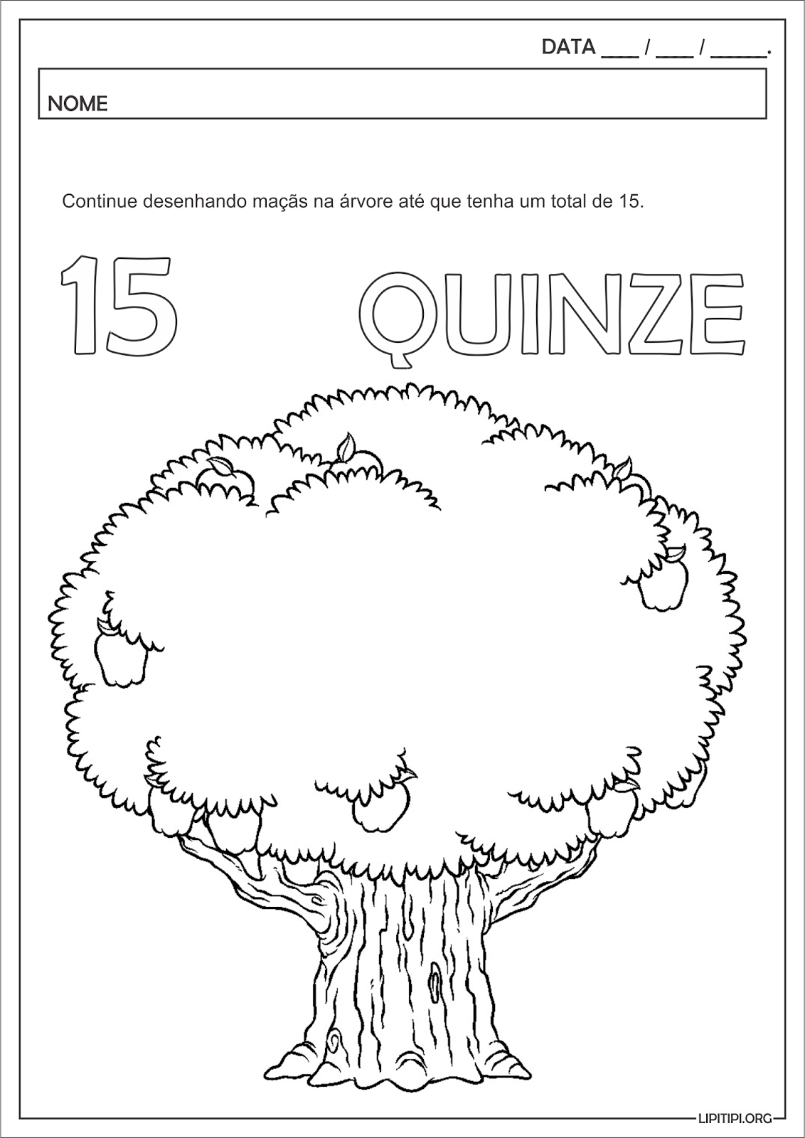 Muito Lipitipi- Atividades e Projetos Fundamental I: Numeral Quinze  YS23