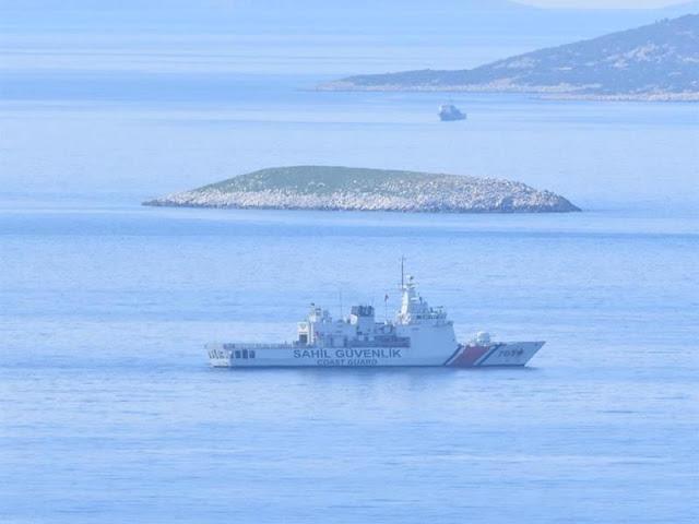 Σκηνικό έντασης στα Ίμια: 11 τουρκικά και 8 ελληνικά σκάφη στη θαλάσσια περιοχή (βίντεο)