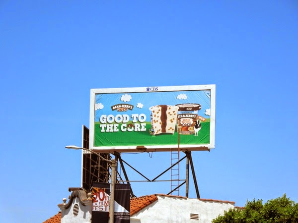 Ben Jerry's Good to the core ice-cream billboard