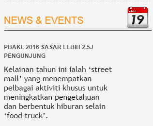 PBAKL (Pesta Buku Antarabangsa Kuala Lumpur) 2016 Banyak Kelemahan?