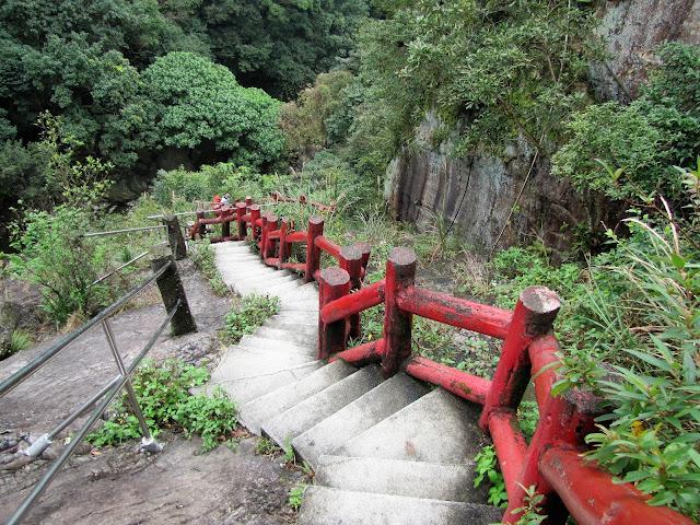 stairs houdongkeng waterfall yulan taiwan