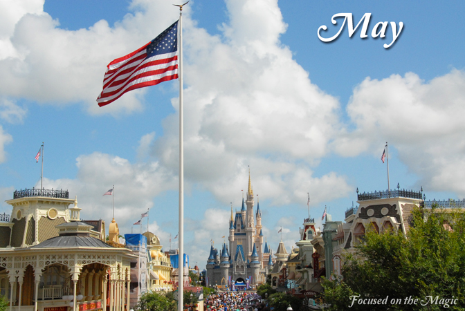 Magic Kingdom Wordless Wednesday May Calendar Shot