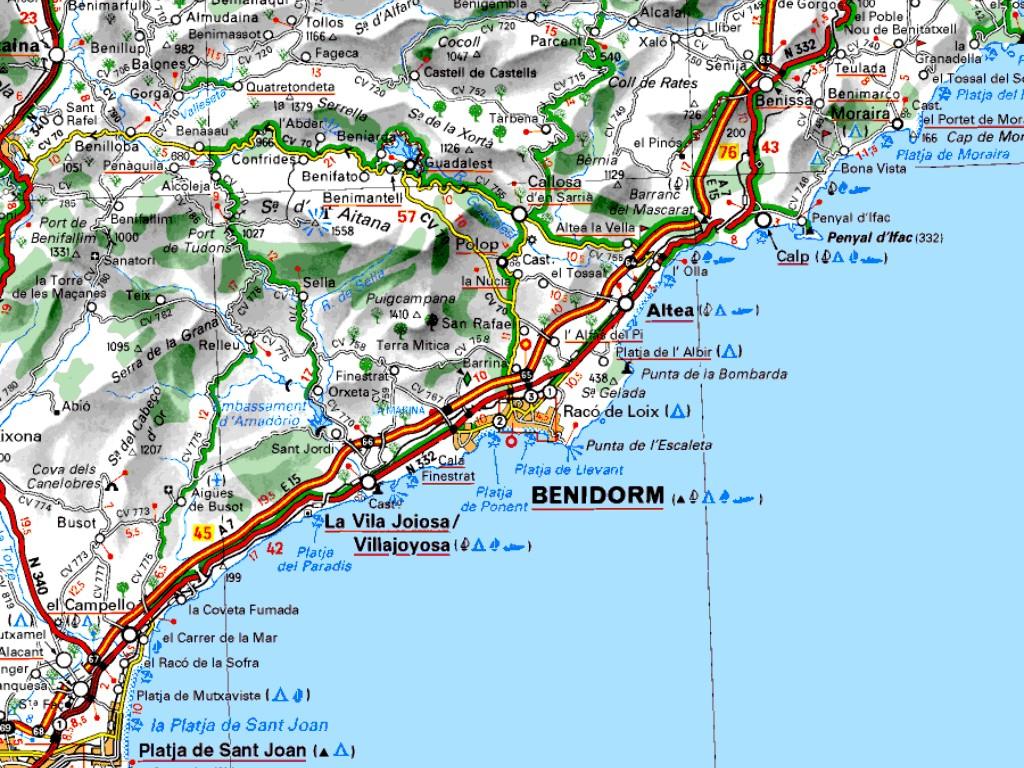 Mapas De Benidorm Espanha Mapasblog