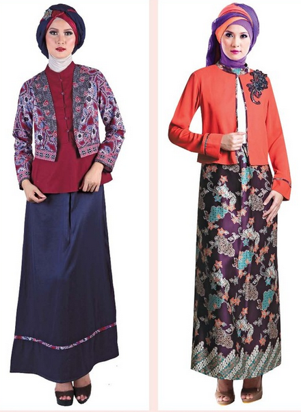 10 Model Baju Gamis Muslim Pesta Terbaru 2015
