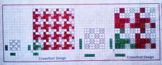Crows foot pattern