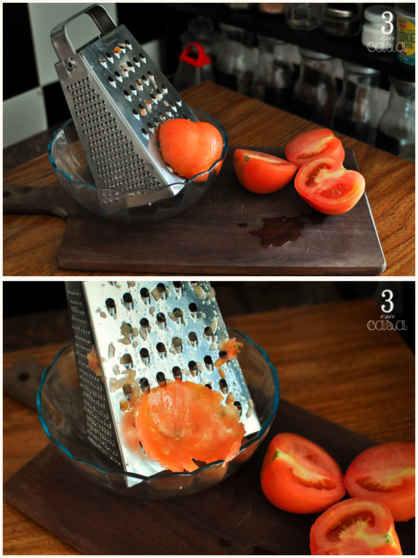 pan con tomate passo a passo