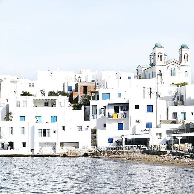 pretty light photos of Naoussa village Paros island