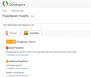 gambar pagespeed insights