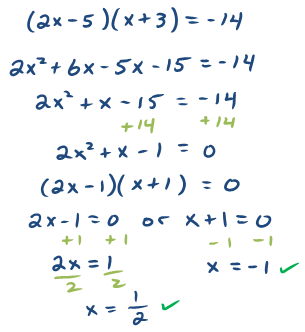Algebra problems and answers
