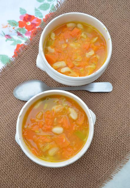 Soupe de haricots blancs au potiron