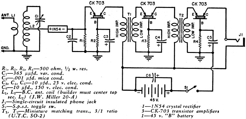 radio theory and design  point contact and junction first