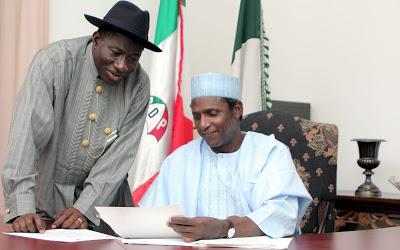 Ex - President Jonathan remembers late Yara'dua, 7 years after his death