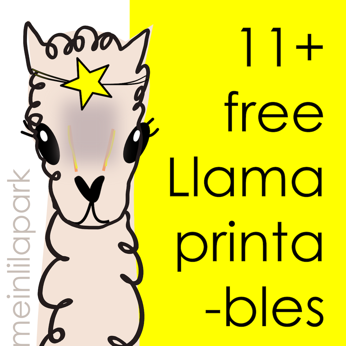 photo relating to Llama Printable identify 15 Totally free llama printables and downloads - Lama zum Ausdrucken