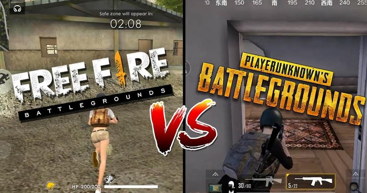 Pubg Mobile Vs Free Fire Battleground Mana Yang Nomor Satu