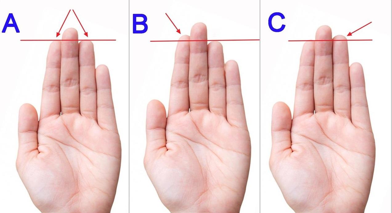Kepribadian Anda berdasarkan ukuran jari tangan Anda