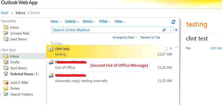 Clint Boessen's Blog: Exchange 2010 User Sends Two Out of