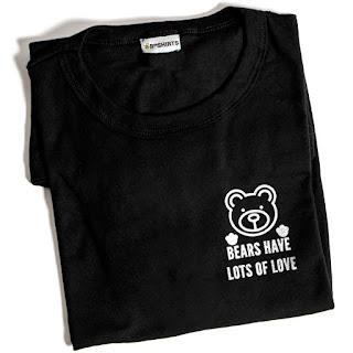 Camiseta Estampada Bears Have Lots Of love