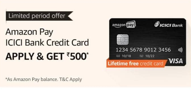 Amazon ICICI Bank Credit Card Offer: Get Rs.500 Cashback
