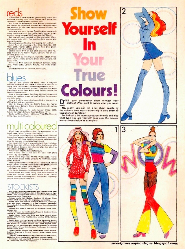 Jackie Magazine 1970s fashion