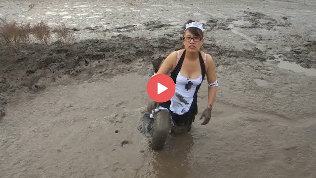 Girl On Mud