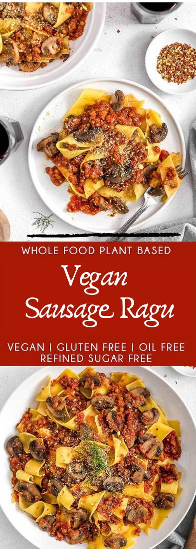 Vegan Sausage Ragu #healthyfood #dietketo