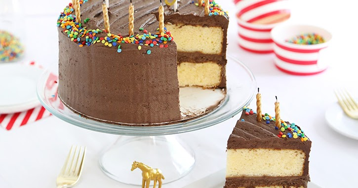 Yellow Cake With Chocolate Buttercream Sprinkle Bakes