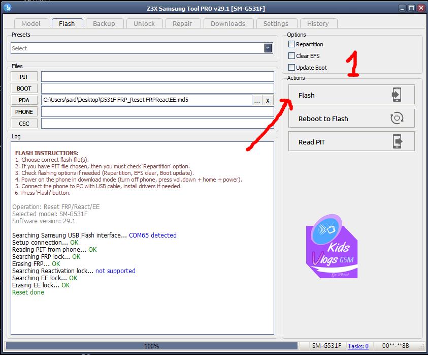 طريقة حذف حساب جوجل FRP لهاتف G531F مجانا - ::مجمع صيانة