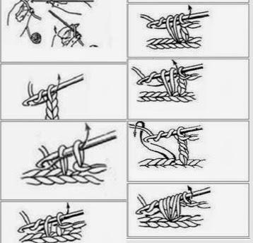 Tığ işi Puf Şeklinde Atkı Modeli Resimli Anlatımı