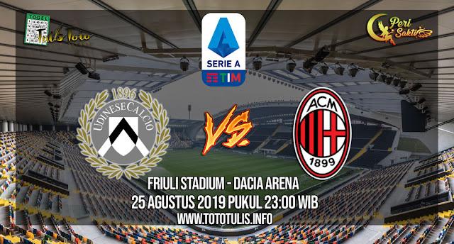 Prediksi Udinese vs AC Milan 25 Agustus 2019