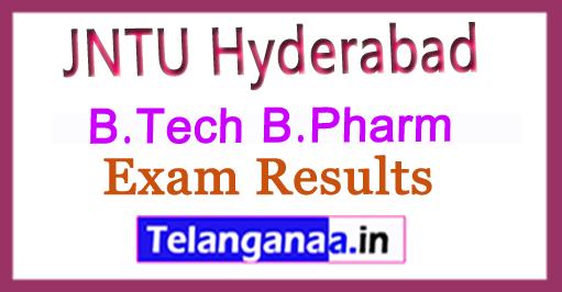 JNTU Hyderabad B.Tech B.Pharm Results