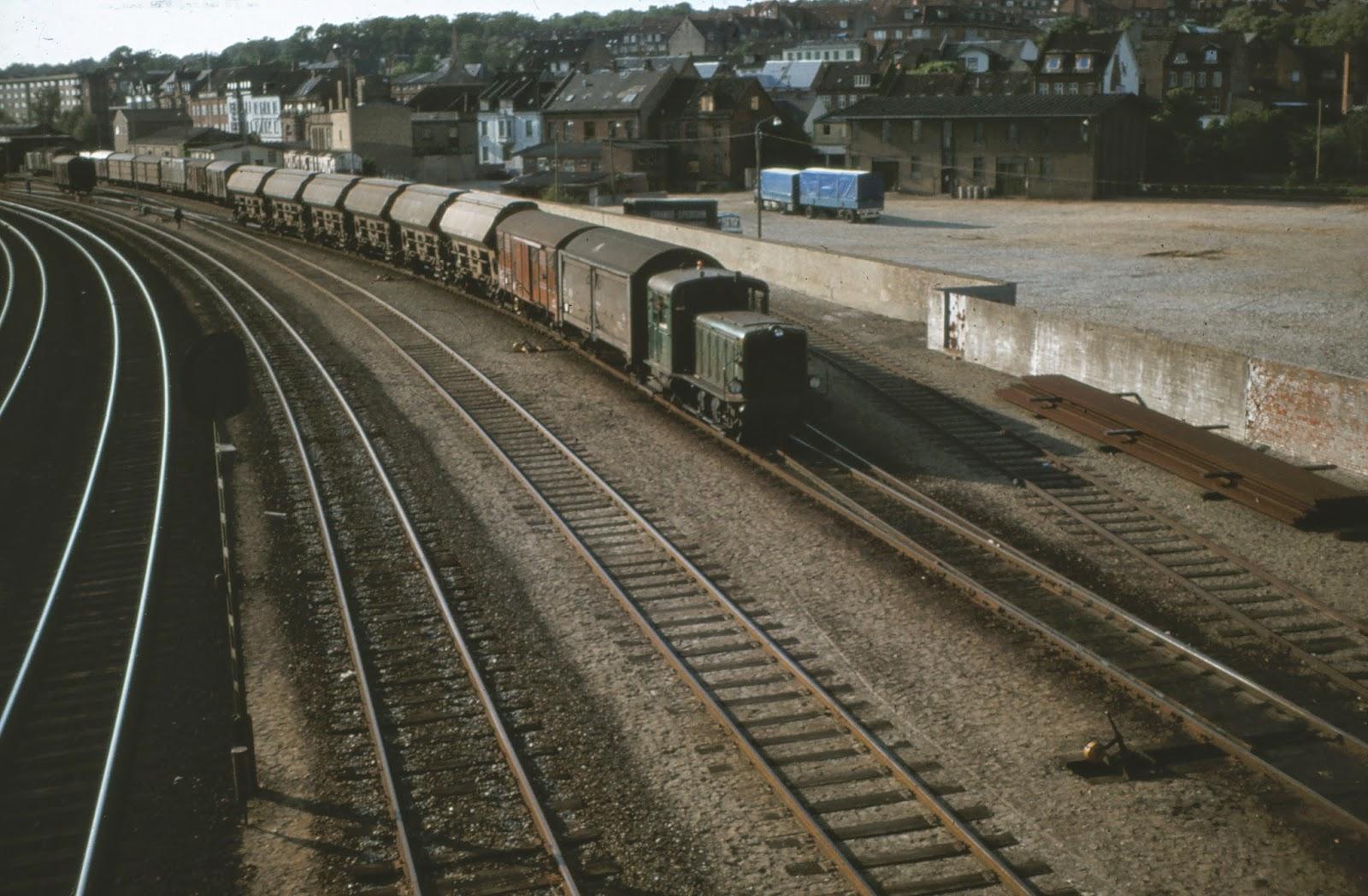 jernbane oplevelser, store og små: Havnebanen i Randers.