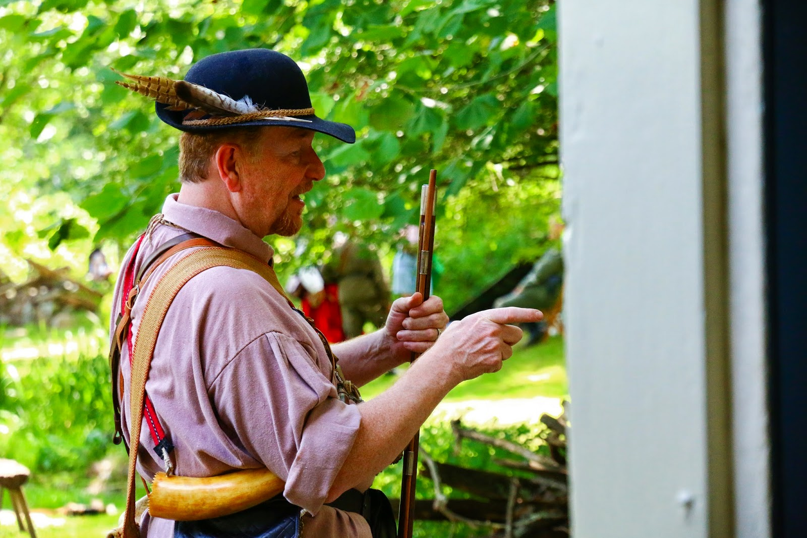 Timeline Reenactment Colonial Plantation 2014