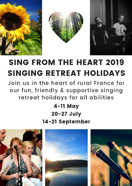 singing retreat, france, rural france, rural retreat, Limousin, de tout coeur limousin, sing from the heart, community singing, group holiday, community singing, activity holidays, singing holiday,