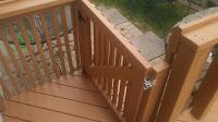 Built gate for back deck