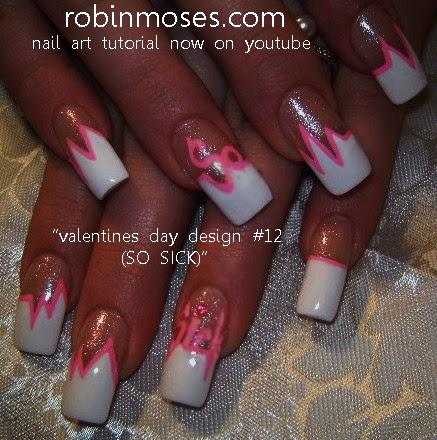 Robin Moses Nail Art Valentines Nails 2012 Easy Heart Nail Valentine Nail Art Easy Valentine