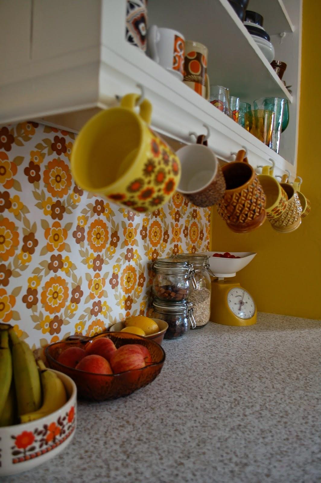 orange kitchen wallpaper vintage clocks hey homewrecker ta tah the finished