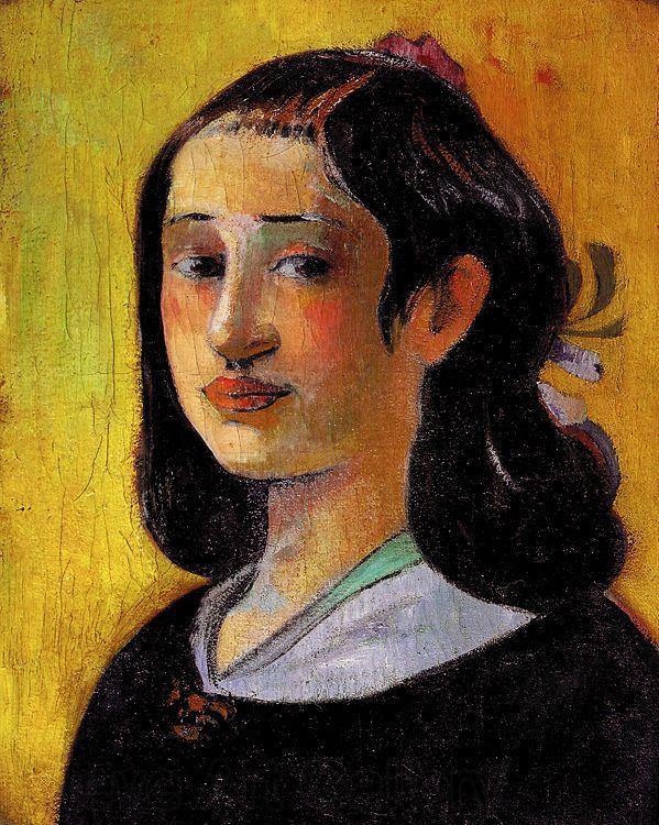 Paul Gauguin, Portrait of Aline Gauguin (his mother), 1890: