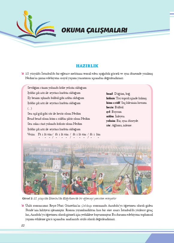 11. Sınıf Türk Dili ve Edebiyatı Ders Kitabı Cevapları Ekoyay Yayınları Sayfa 12