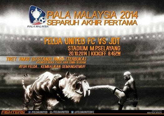 Felda United vs JDT semi