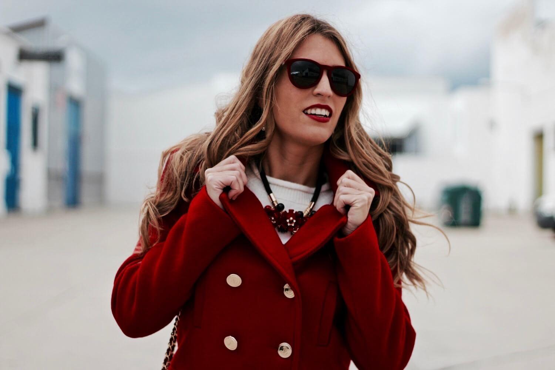 abrigo rojo el corte ingles