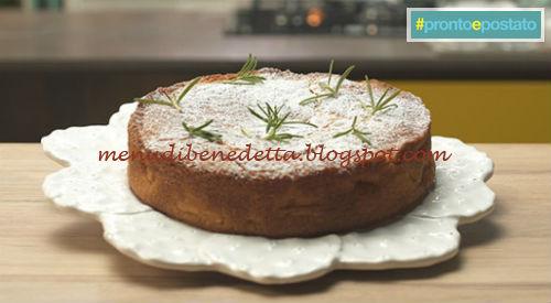 Pronto e postato - Torta di mele e rosmarino ricetta Benedetta Parodi