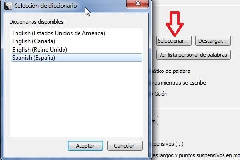 diccionario español scrivener
