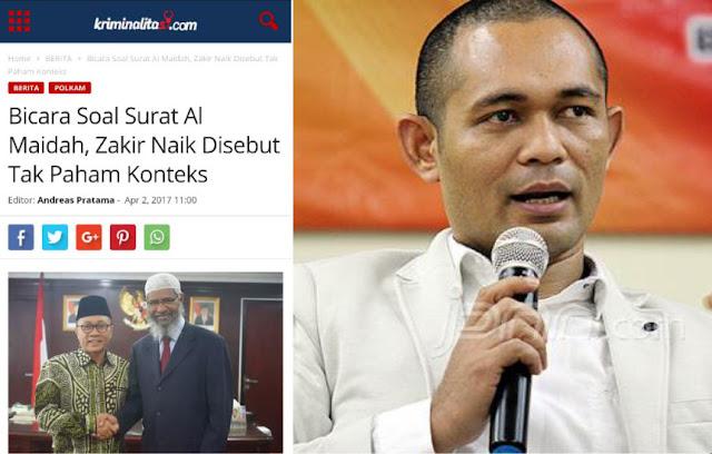 Jawaban Dr Zakir Naik Patahkan Tudingan Boni Hargens yang Sebut tak Paham Konteks Al Maidah 51