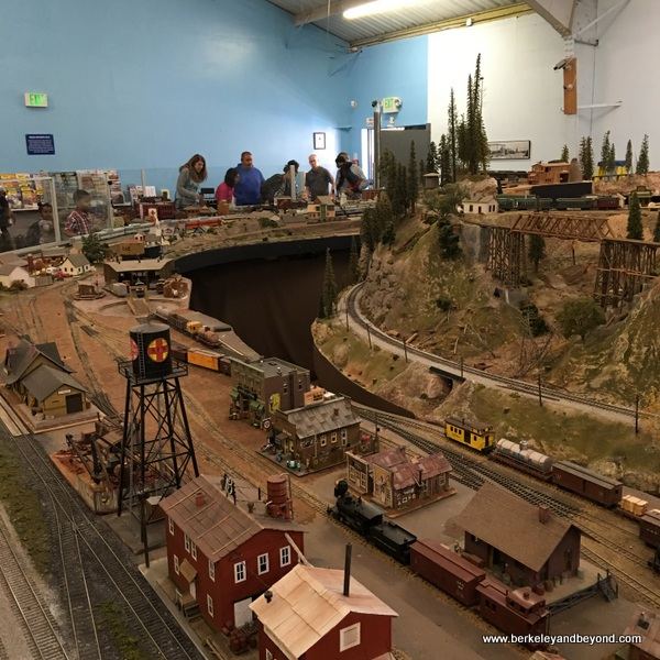 interior of Golden State Model Railroad Museum in Pt. Richmond, California